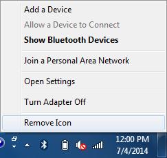 bluetooth 1 - Hướng dẫn hiển thị biểu tượng Bluetooth trên khay hệ thống
