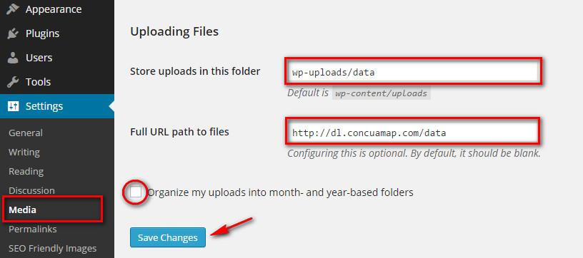huong dan change url file wp 001 - Hướng dẫn thay đổi đường dẫn lưu file trên WordPress