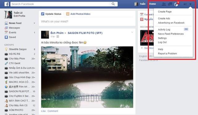 Hướng dẫn sao lưu dữ liệu Facebook