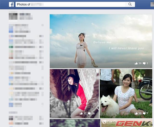 Hướng dẫn tìm kiếm tất cả ảnh đã ẩn của bạn bè trên Facebook