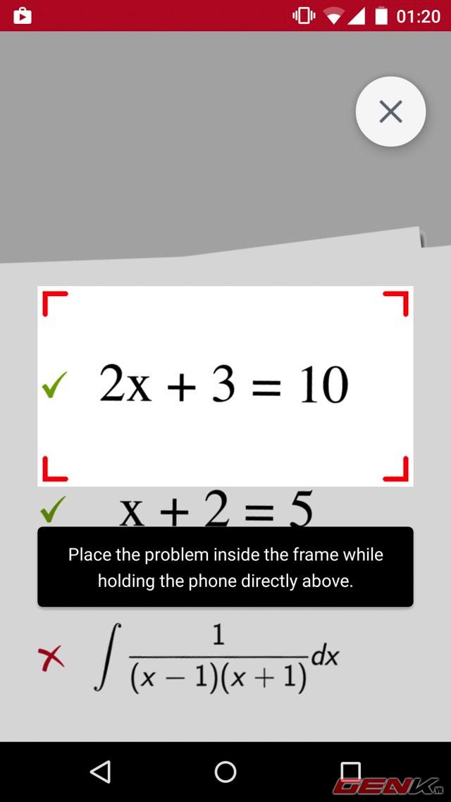 photomath ung dung giai toan bang camera da co tren android - Giải toán trên thông minh bằng camera trên smartphone với PhotoMath