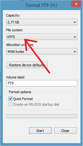 Cách chuyển file hơn 4GB vào USB