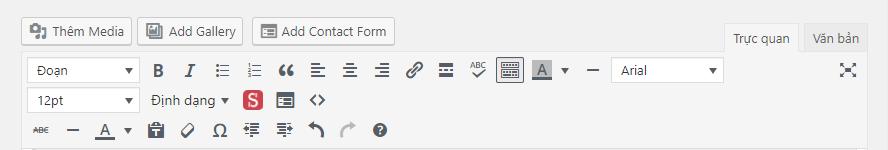 kich hoat cac nut soan thao bai viet an trong wordpress 7179 - Kích hoạt các nút soạn thảo bài viết ẩn trong WordPress