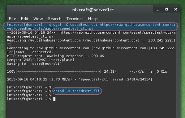 wget speedtest cli.py command - Hướng dẫn cài đặt Speedtest-cli trên CentOS / RHEL / Scientific / Fedora Linux